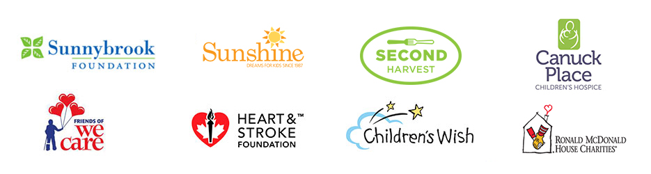 Collage of charity organization logos